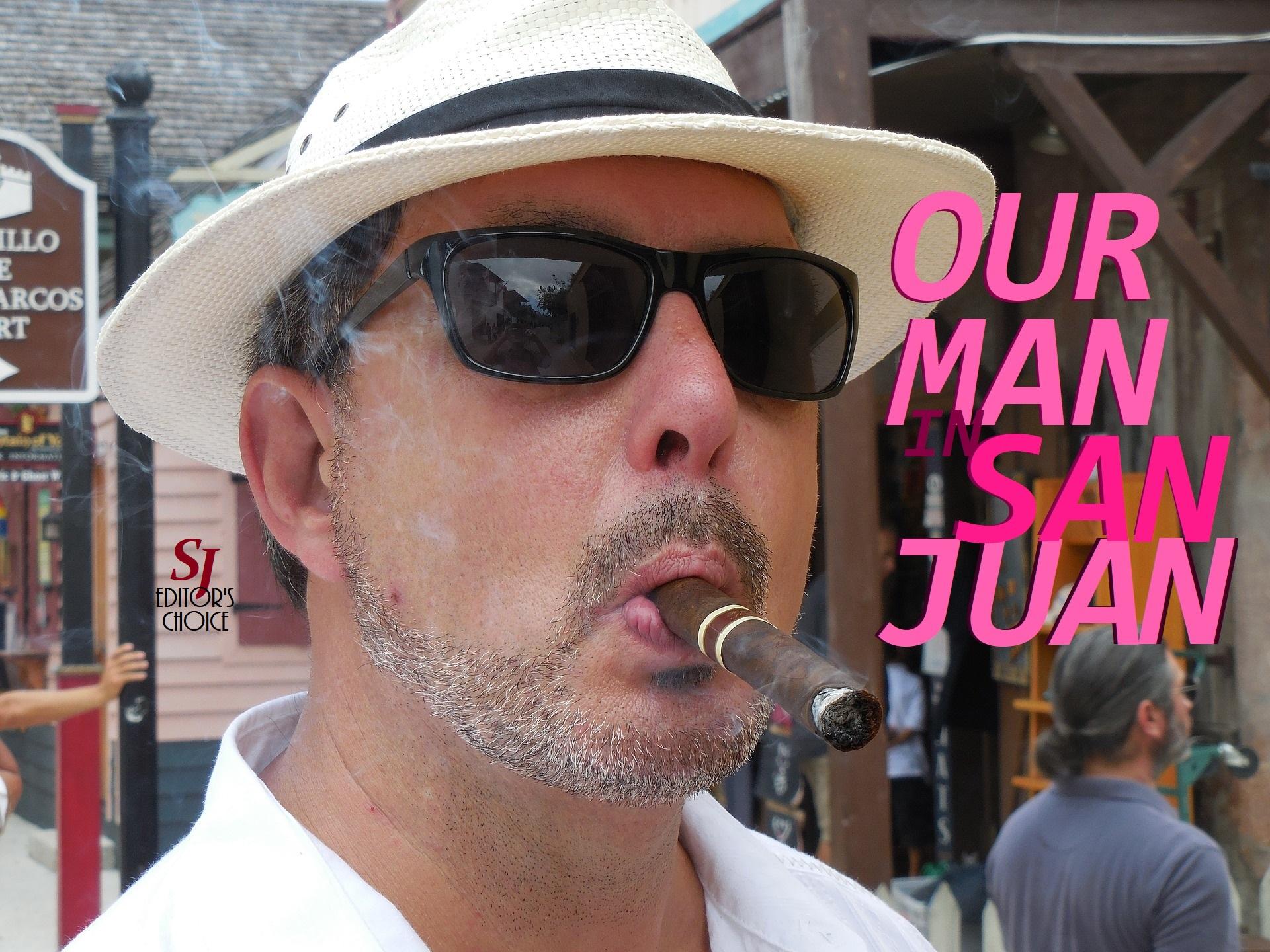 cover, Our Man in San Juan