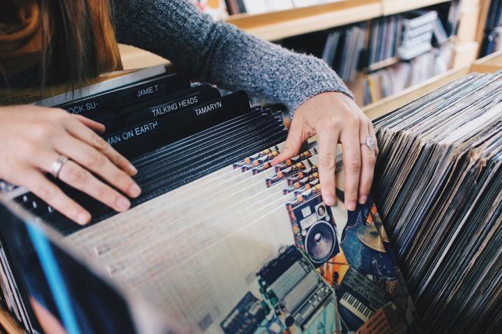 shopping, records