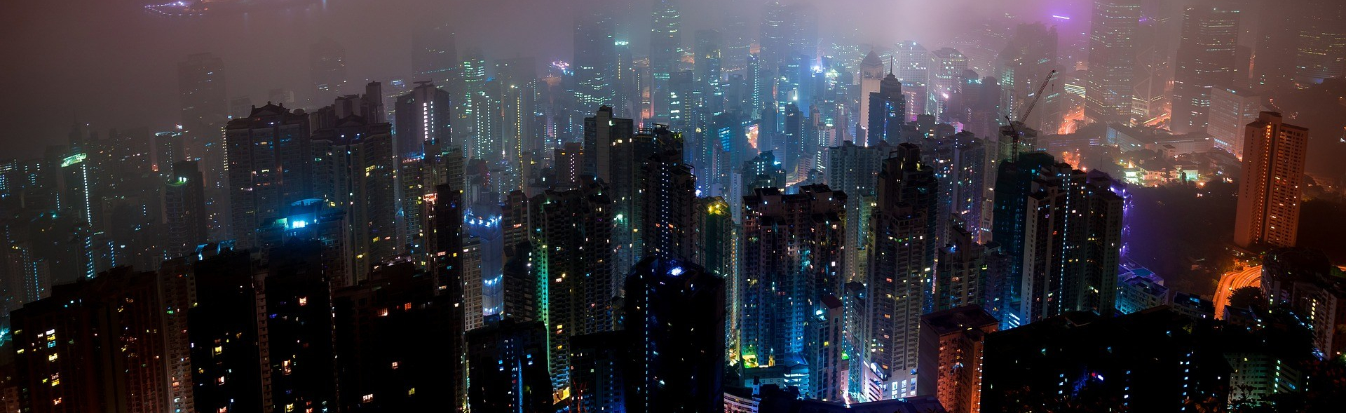 Hong Kong, city, mist