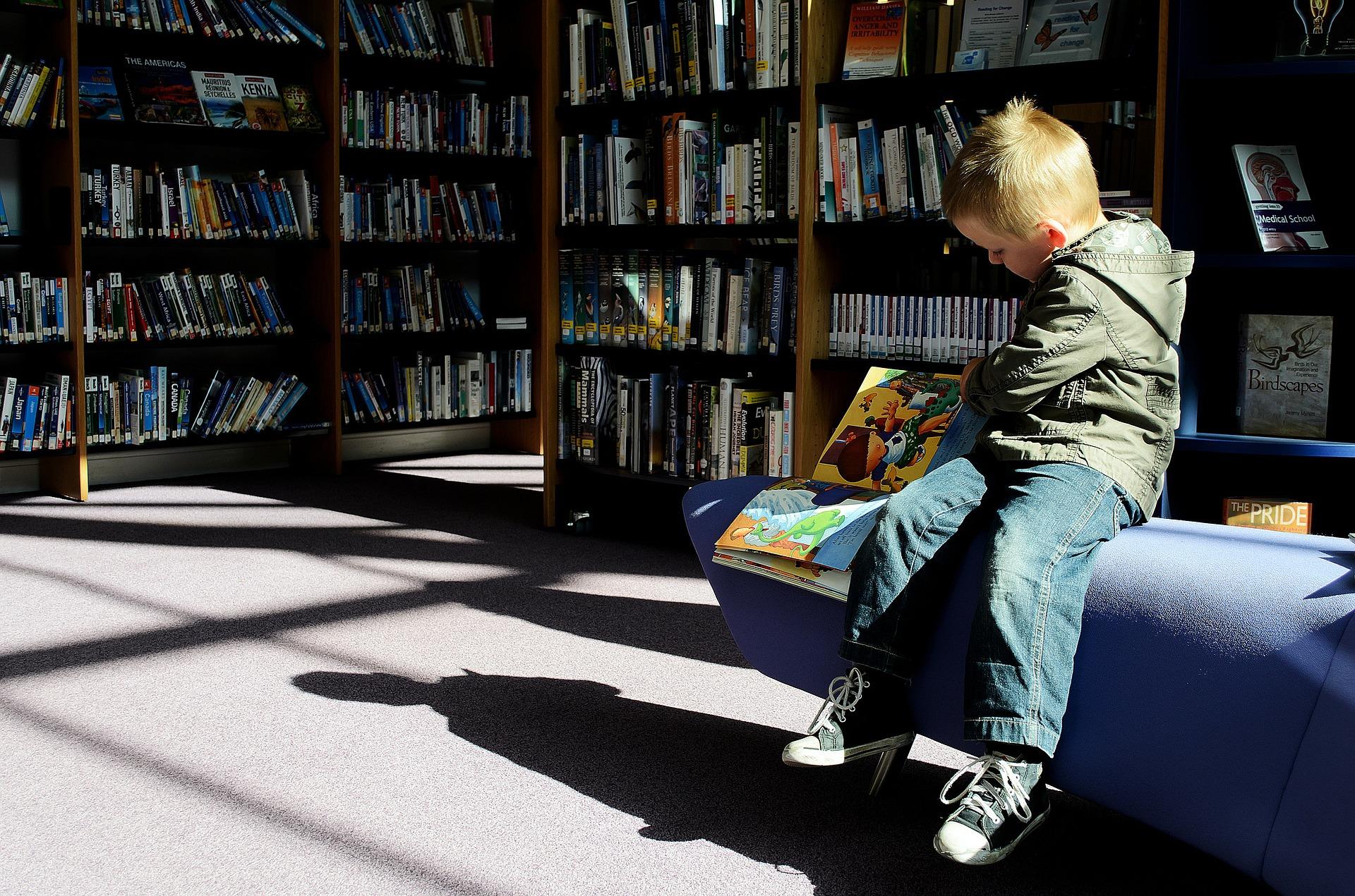 people, boy, reading
