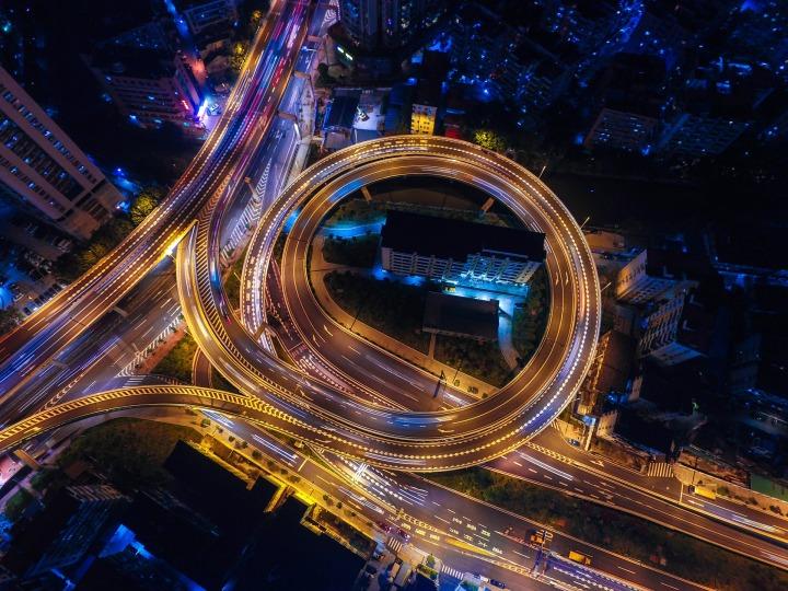 highway, loop, night