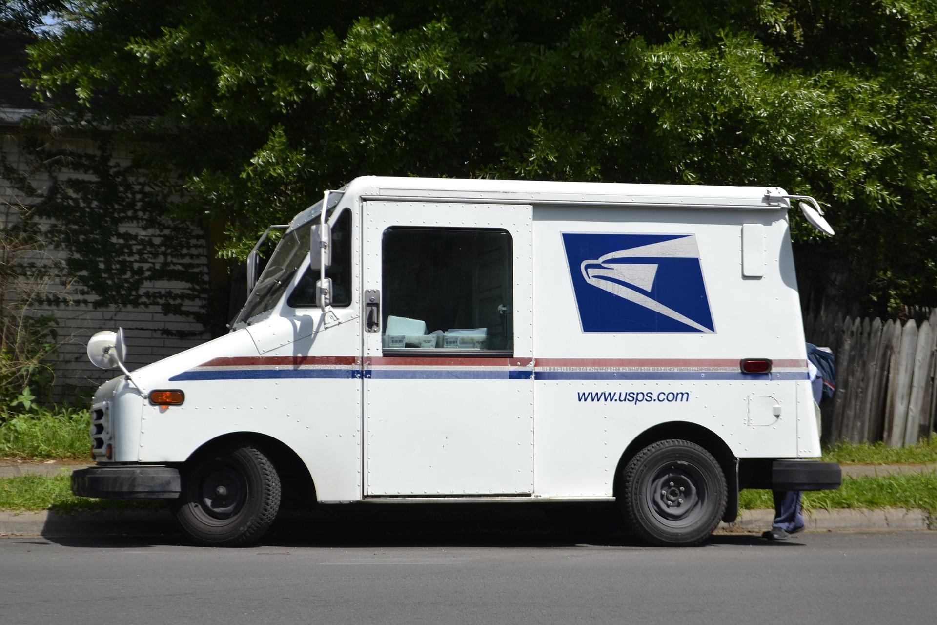 car, mail truck