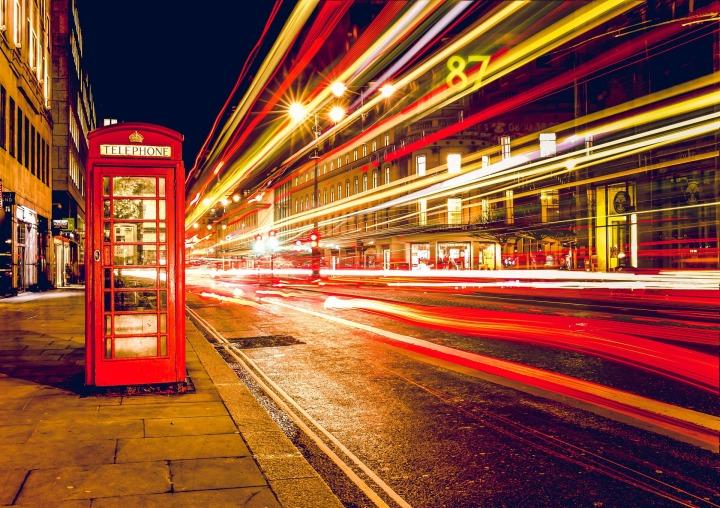 City, London, telephone box