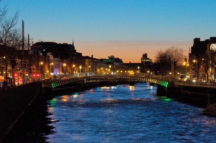 city, Dublin, Liffey