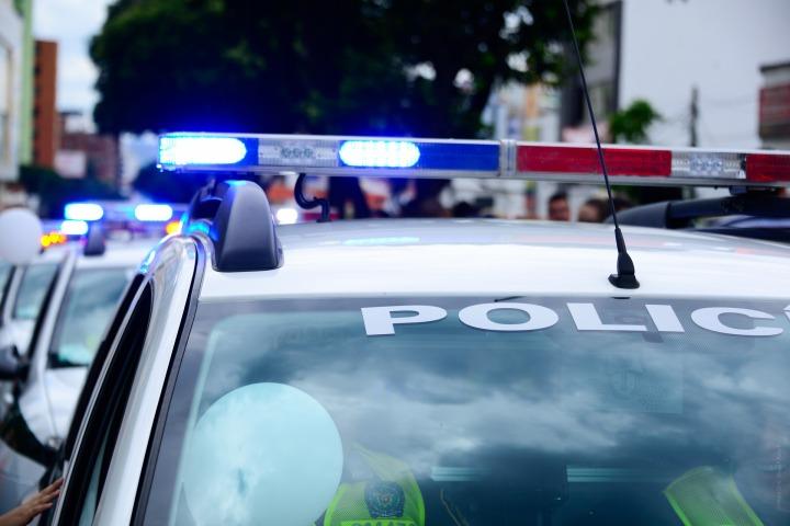 cops, lights