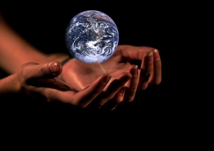 globalism, earth, hands