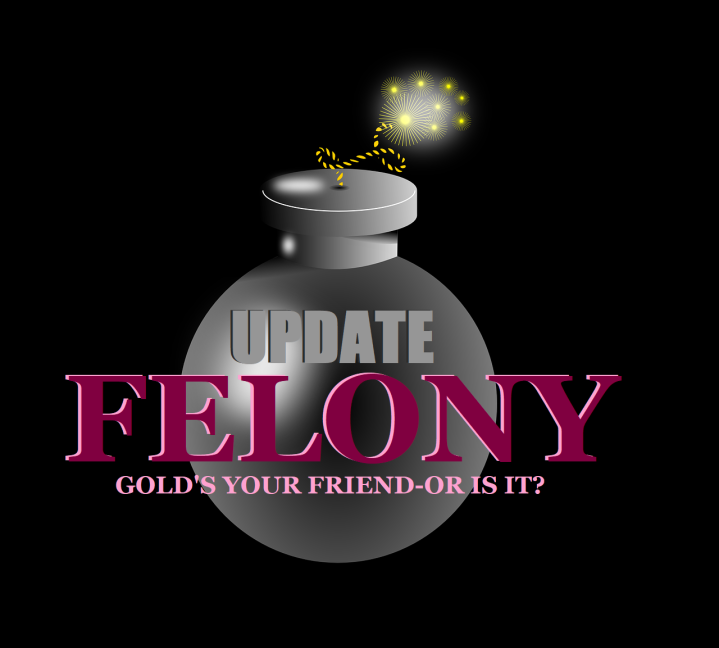 Graphic, cover, gold bomb, UPDATE