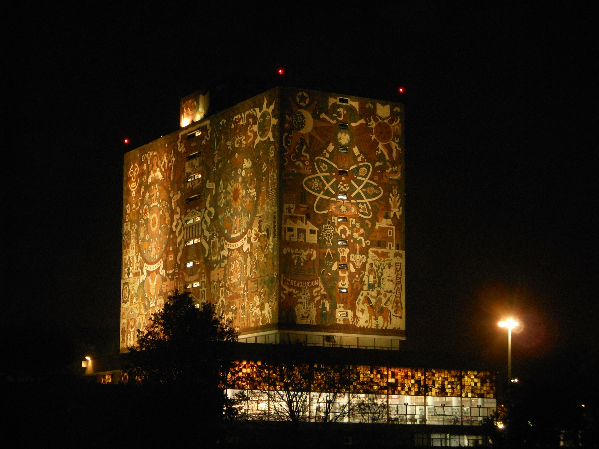 Mexico, night, carvings
