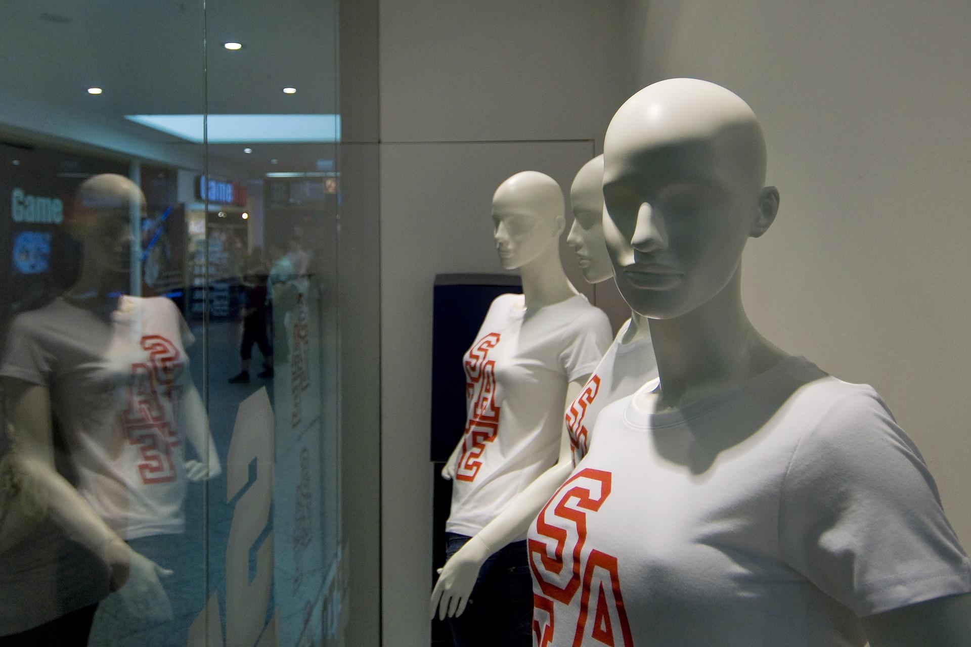 retail, man, window