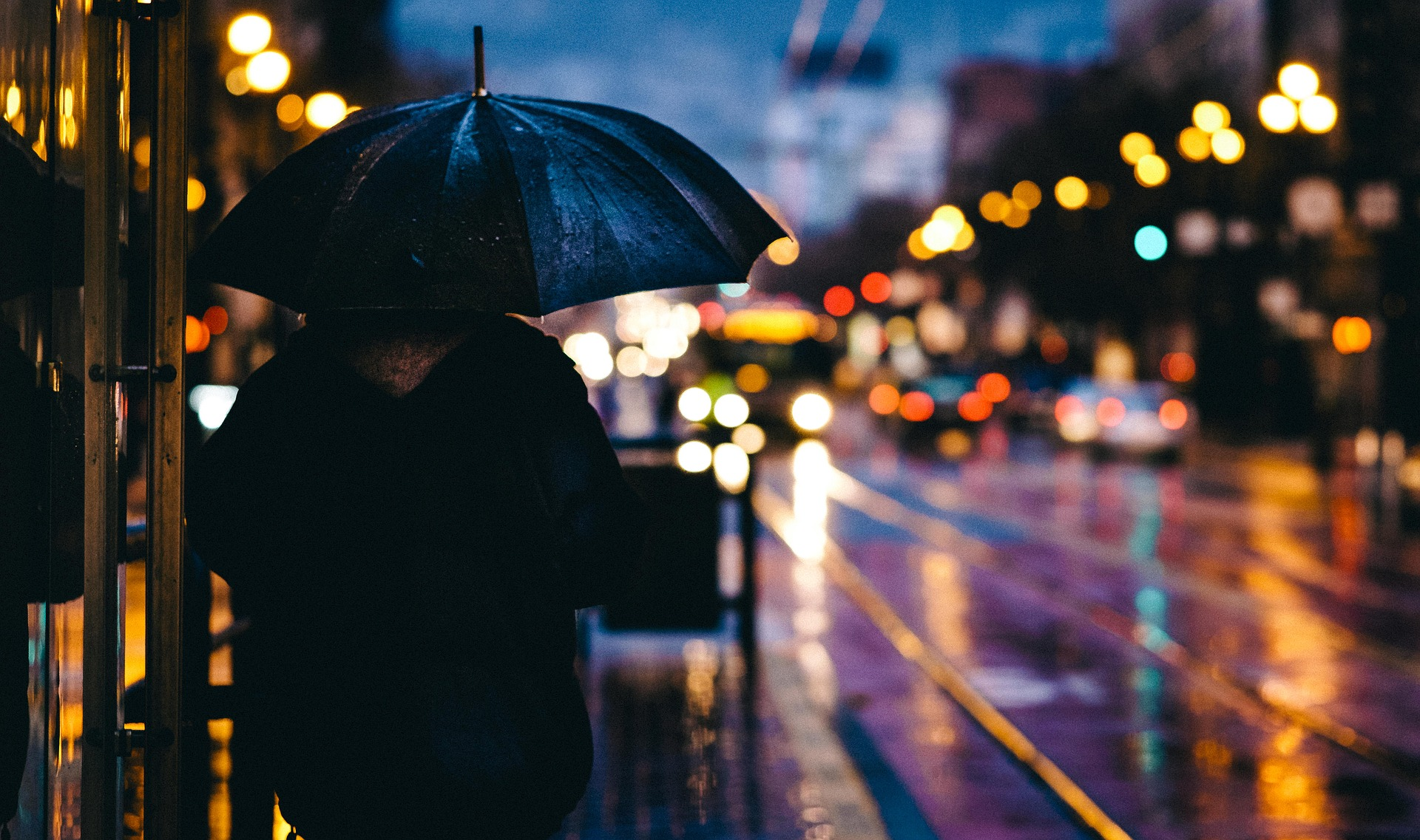 city, rain, night