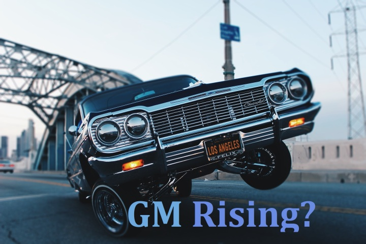Graphic, cover, GM rising.