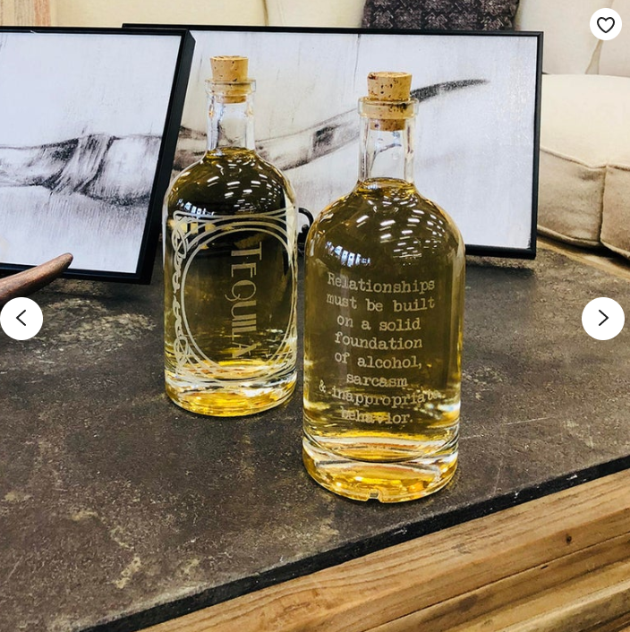ETSY, Laser Etched decanters