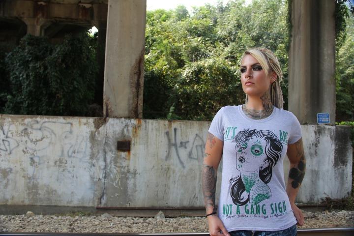 woman, T-shirt