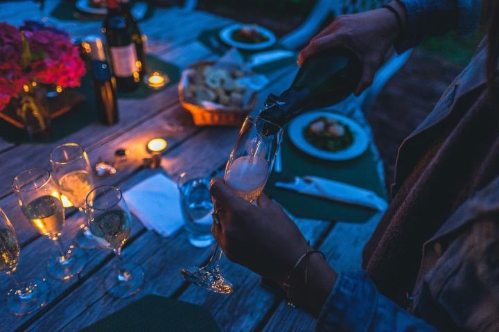 party, drinking, dark