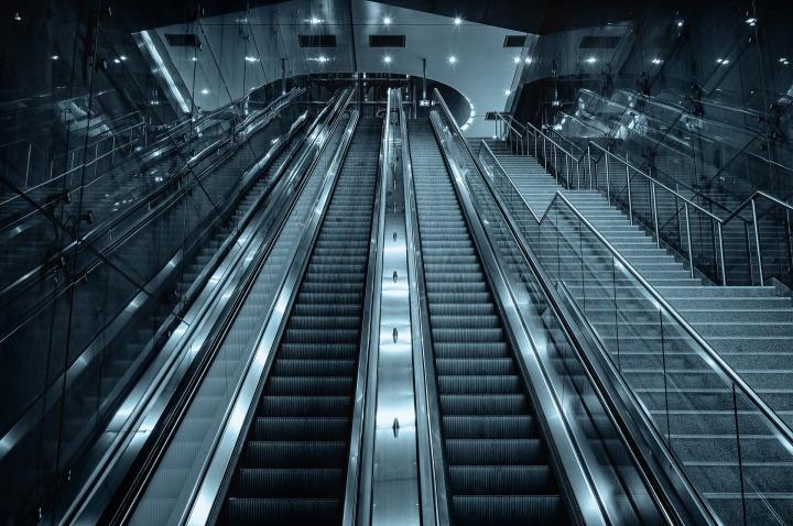 escalator, stairs, mod